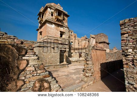 Tower Of The Chittorgarh Fort - Unesco World Heritage Site Under The Group Hill Forts Of Rajasthan.