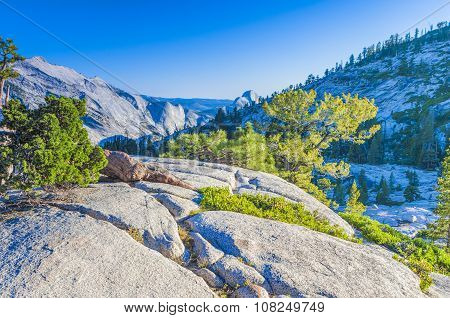 Incredible Mountain Rock Formations In The World Famous Yosemite National Park In California USA
