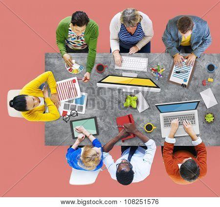 People Meeting Corporate Planning Brainstorming Concept