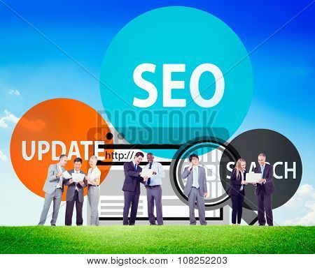 SEO Update Business Search Engine Optimisation Concept