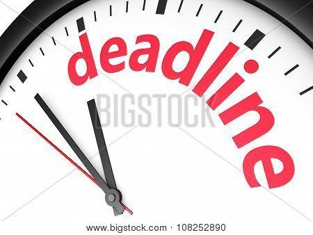 Deadline Time Business Concept
