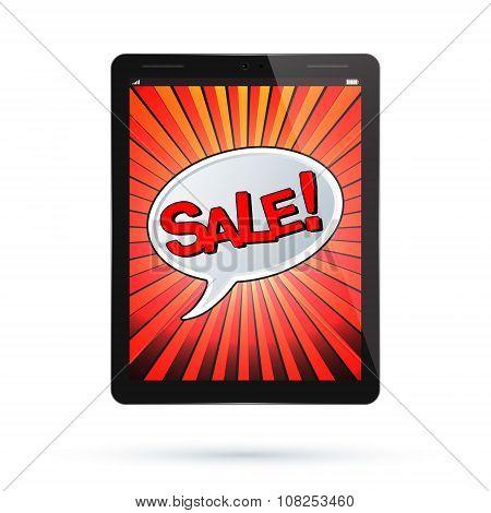 Tablet Sale Vector