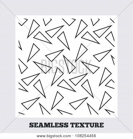 Triangles geometric seamless pattern.