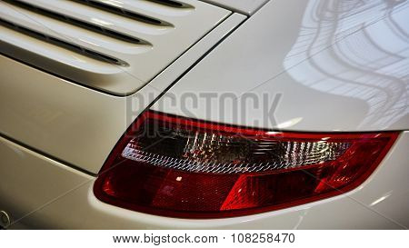 Closeup of the tail light