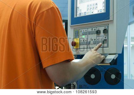 Man Work In Printery