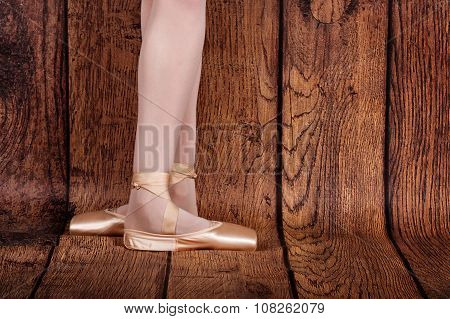 The Third Position In Classical Ballet. Ballet Pas.