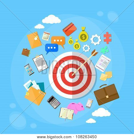 Target Arrow Get Aim Concept Web Marketing Application