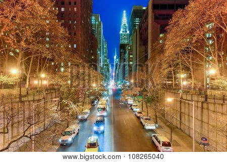 View Along 42Nd Street - New York City