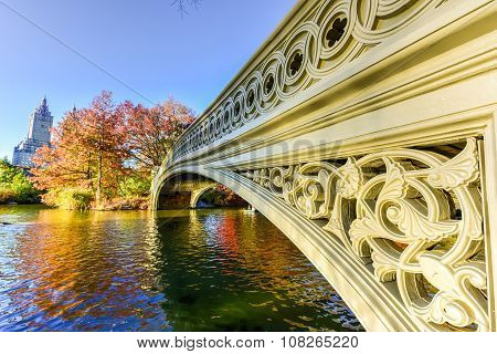 Bow Bridge, Central Park In Autumn