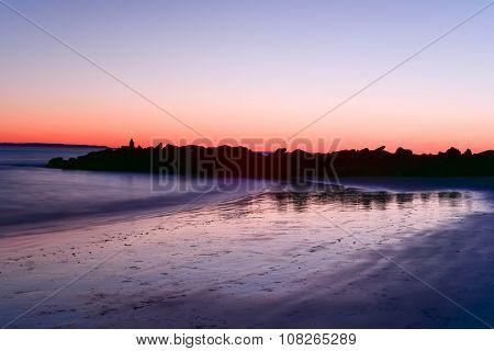 Coney Island Beach Sunset
