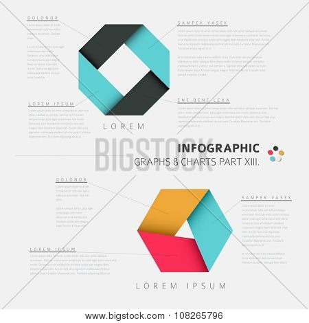 Vector flat design infographic elements (cycle diagrams) - 13. part of my infographic bundle