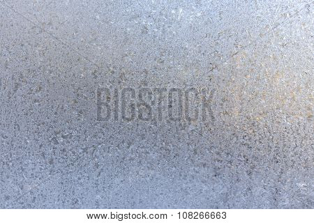 Frosted glass texture. Winter background.