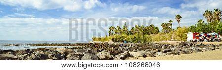 Sandy Beach, Los Cristianos, Tenerife, Spain