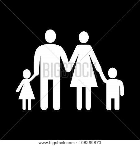 The family icon. Family symbol. Flat