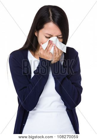 Asian Young Woman feeling unwell