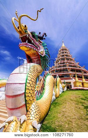 Wat Hyua Pla Kang, Chinese Temple In Chiang Rai Thailand, This Is The Most Popular Temple In Chiang
