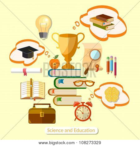 Education Concept Of Effective Teaching Power Of Knowledge Infographics
