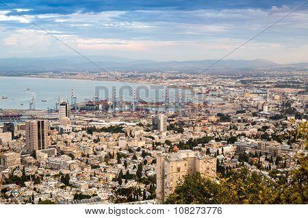 Panorama Of Haifa - Port And Modern Buildings, Israel