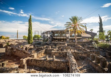 Peter's House In Jesus Town Of Capernaum