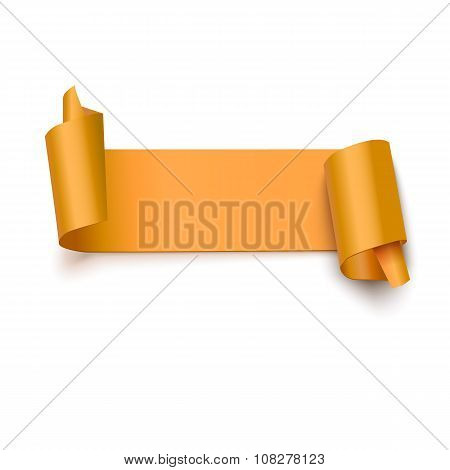 Curved banner on white