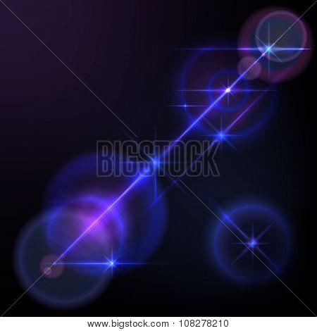 Lens flares star lights, glow