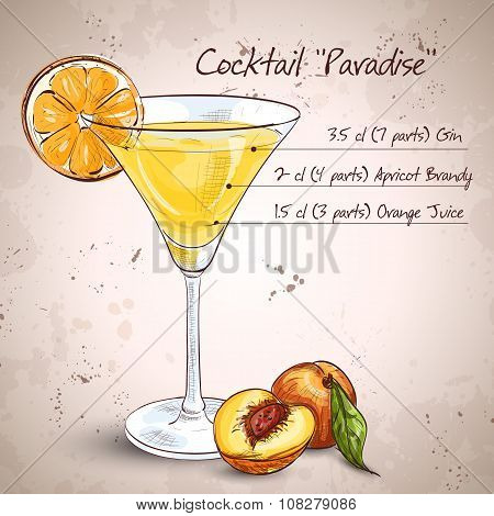 Paradise alcoholic cocktail