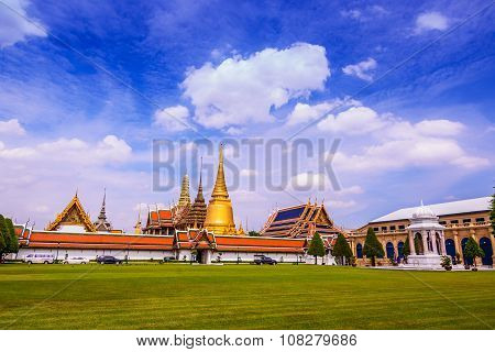 Wat Phra Kaeo Temple of the Emerald Buddha and the home of the Thai King.