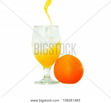 Orange Juice On White