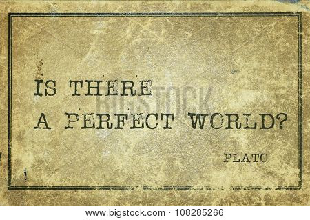 Perfect World Plato