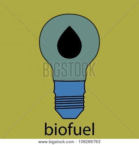 Biofuel icon flat design