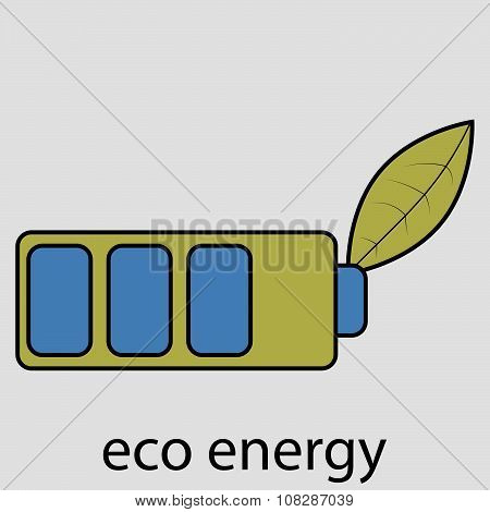 Eco energy battery with leaf