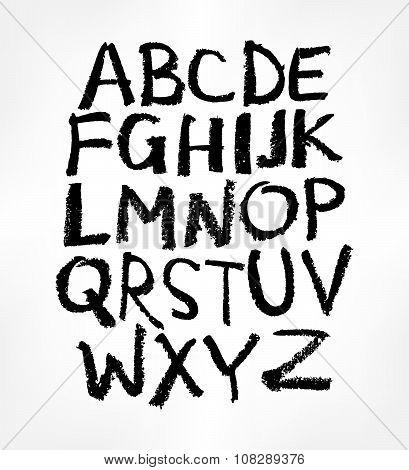 Handwritten Alphabet, Ink Hand Lettering.