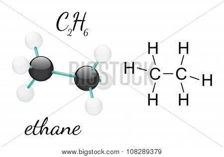 C2H6 ethane molecule