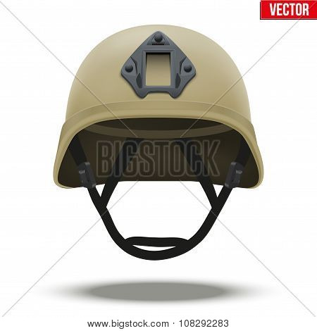 Military tactical helmet desert color