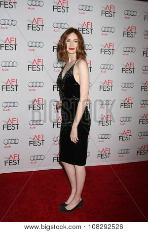 LOS ANGELES - NOV 12:  Karen Gillan at the AFI Fest 2015 - Presented by Audi - The Big Short Gala Screening at the TCL Chinese Theater on November 12, 2015 in Los Angeles, CA