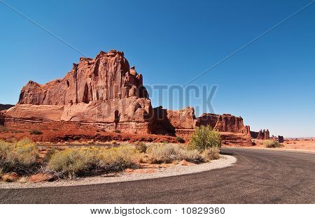 Scenic Sandstone Evening Capture At Arches National Park