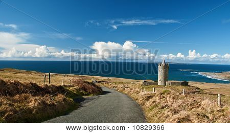 Beautiful Breathtaking Vibrant  Irish Scenic Coastal Seascape
