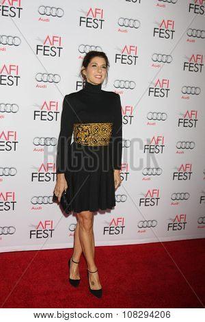 LOS ANGELES - NOV 12:  Marisa Tomei at the AFI Fest 2015 - Presented by Audi - The Big Short Gala Screening at the TCL Chinese Theater on November 12, 2015 in Los Angeles, CA
