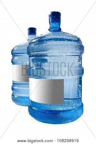 Big Bottle Of Water Isolated On A White Background