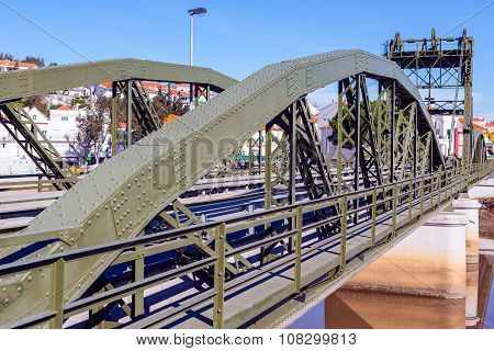 Bridge Over Sado River. Alcacer Do Sal, Portugal