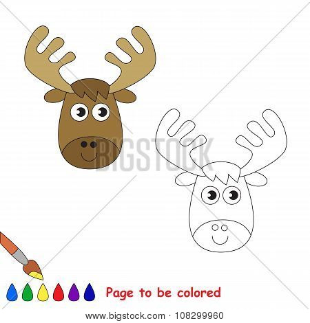 Vector cartoon elk to be colored.
