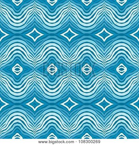 Seamless  Blue Striped Background