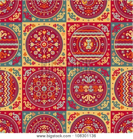 Geometrik pattern. Seamless patchwork pattern. Ethnic.