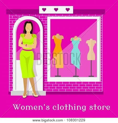 Woman Clothing Urban Store Design
