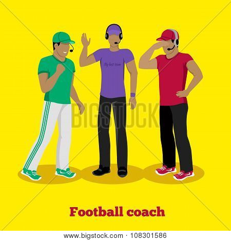 Football Coach Concept Flat Design