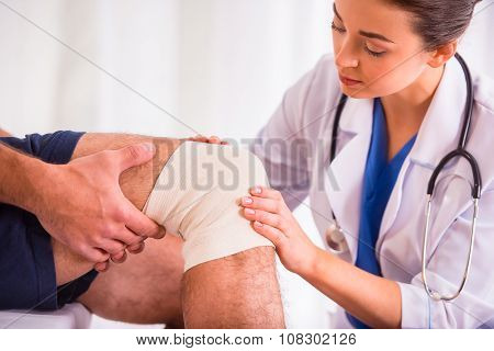 Injury Man In Doctor