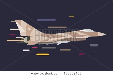 War military plane vector illustration