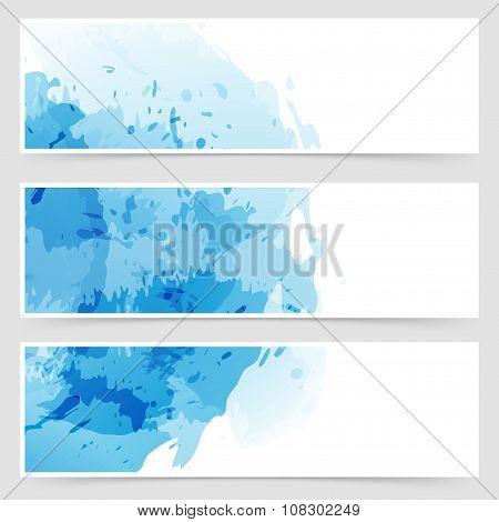 Modern Transparent Web Watercolor Header
