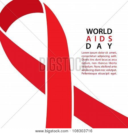 AIDS awareness ribbon. World AIDS Day background.