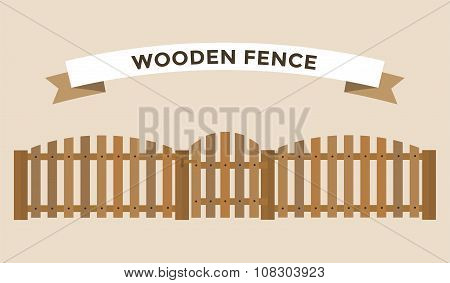 Wooden fence isolated on background